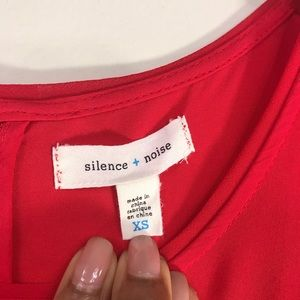 silence + noise Other - Silence and Noise | Red Tunic Top